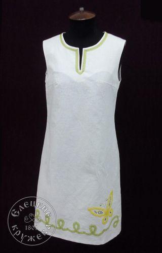 Dress womens linen white