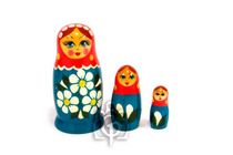 Russian woman - Russian doll booklet, 3 dolls - non-traditional