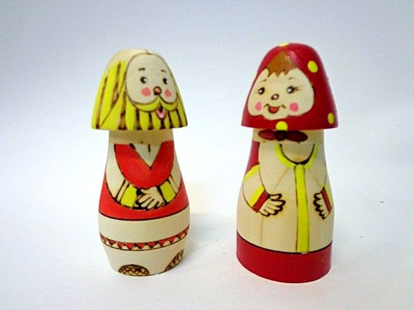 "Tver souvenirs / Salt cellars ""Grandfather and Baba"""