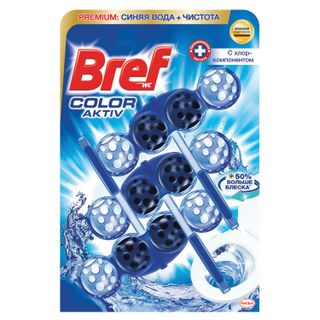 "WC freshener (for toilet) solid 3x50 g BREF Active, ""With chlorine component"""