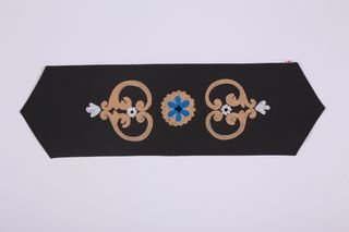 LA`AL Textiles/ Дорожка на кофе-столик, серая (c)