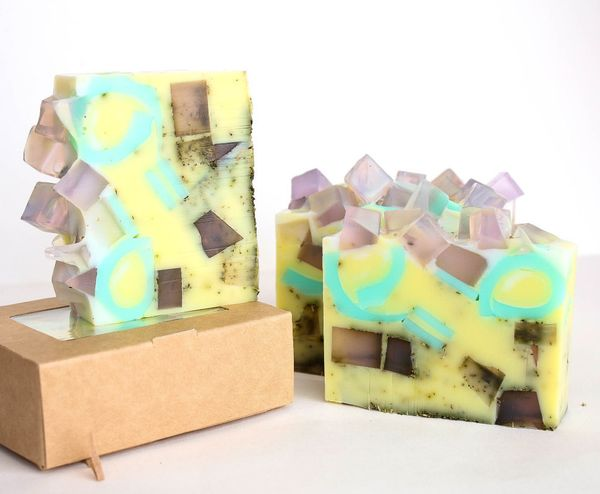 1kg Lavender Pudding Bar - Solid Shower Gel