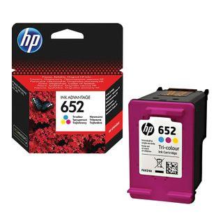 HP Deskjet 2135/3635/3835/4535/4675/1115 Inkjet Cartridge, # 652 Color, Original Yield 200 pages