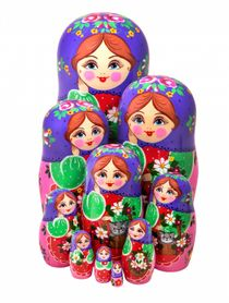 Author's matryoshka 10 dolls