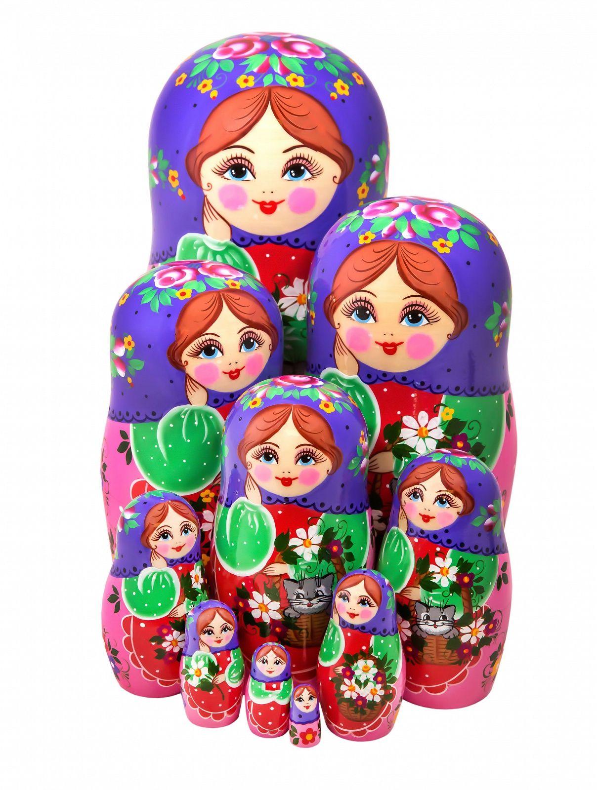 Khokhloma painting / Author's Matryoshka 10 dolls