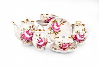 Dulevo porcelain / Tea service Autumn rose 15 pre