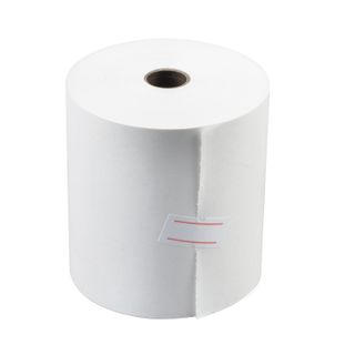 Receipt tape thermal PAPER 80 mm (diameter 56 mm, length 50 m, the sleeve 12 mm), SET 6 PCs., 44 g/m2 STAFF