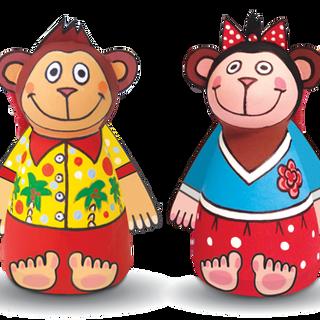 "Set of BALL-PAPE ""Monkeys"""