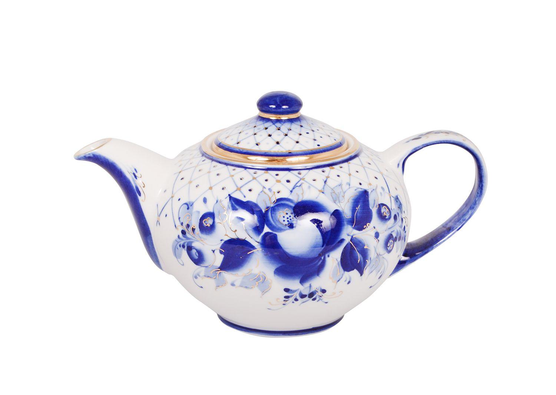 Dulevo porcelain / Teapot 1100 ml Lucky Gold