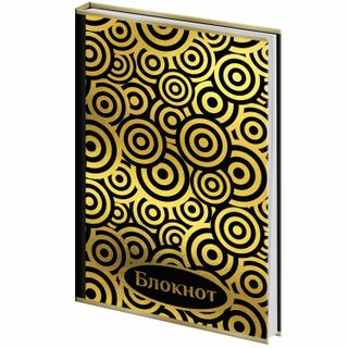 Notebook A5 (135 x206 mm), 80 sheets, hardcover, foil, cage, BRAUBERG,