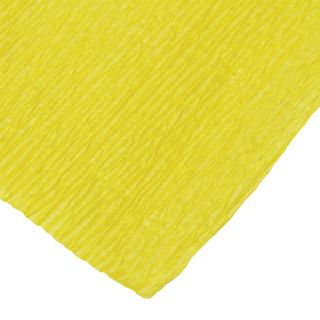 ISLAND OF TREASURES / Crepe paper for creativity and floristry, 110 g / m2, yellow, 50x250 cm