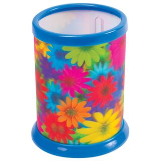 Stand-glass for stationery BRAUBERG, 3D effect, Flowers, D 87x106 mm