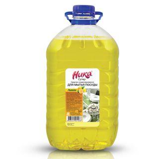 """Dishwashing detergent 5 kg, NIKA """"Super"""", lemon, concentrate, PET"""