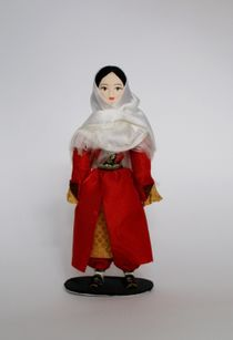 Doll gift porcelain. The Ingush. Festive costume. North Caucasus.