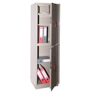 Cabinet metal for documents KBS-032T, 1550 x470 x390 mm, 48 kg, 2 compartments, welded