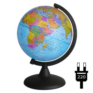 Political globe with a diameter of 200 mm with backlight