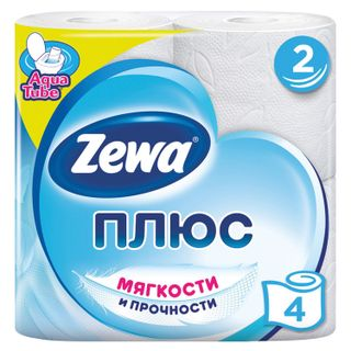 ZEWA / Toilet paper Plus, 2-layer (4x23 m), white, solder 4 pcs.
