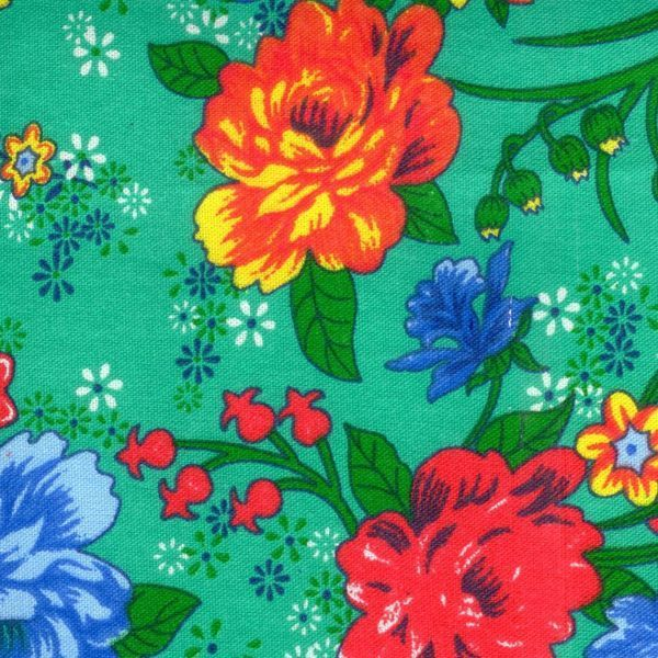 Calico printed No. 412 Flowers