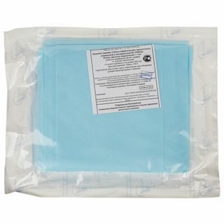 HEXA / Bed sheet, disposable sterile, 140x200 cm, laminated spunbond 40 g / m2, blue