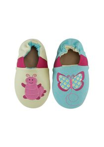 ROBEEZ 2 in 1 shoes for girls - Caterpillar on the green-Butterfly on the blue