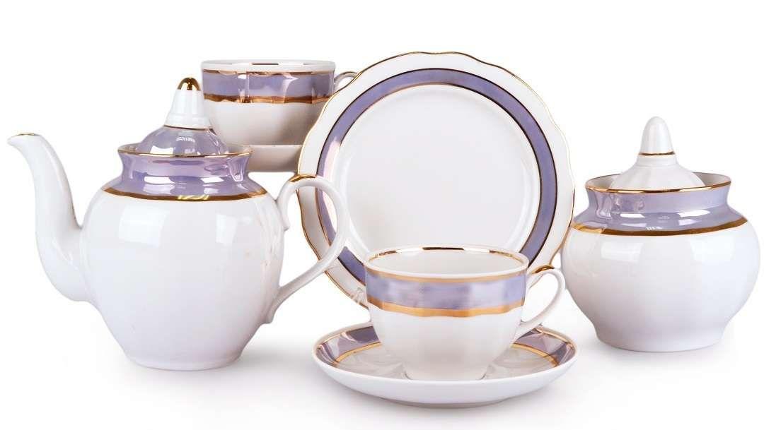 Dulevo porcelain / Tea set 20 pcs Pomegranate Sea Breeze