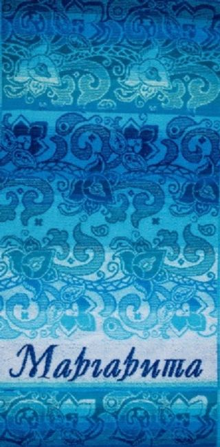 "Terry bath towel named ""Margarita"" size 100 * 50 jacquard"
