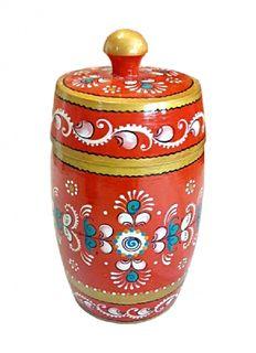 "Wooden barrel ""Shenkur red painting"" 11 cm"