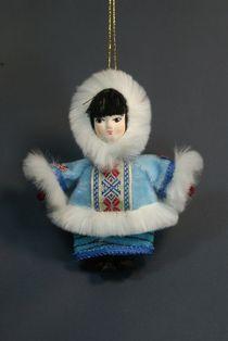 Doll gift. Girl. Eskimos.