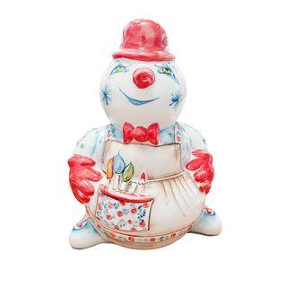 The sculpture Snowman-master paint 1st grade, Gzhel Porcelain factory