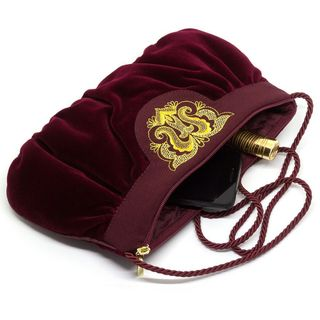 Velvet bag Fatiniya Burgundy with gold embroidery