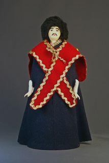 Doll gift porcelain. North Caucasus. Kabardian in the cloak.