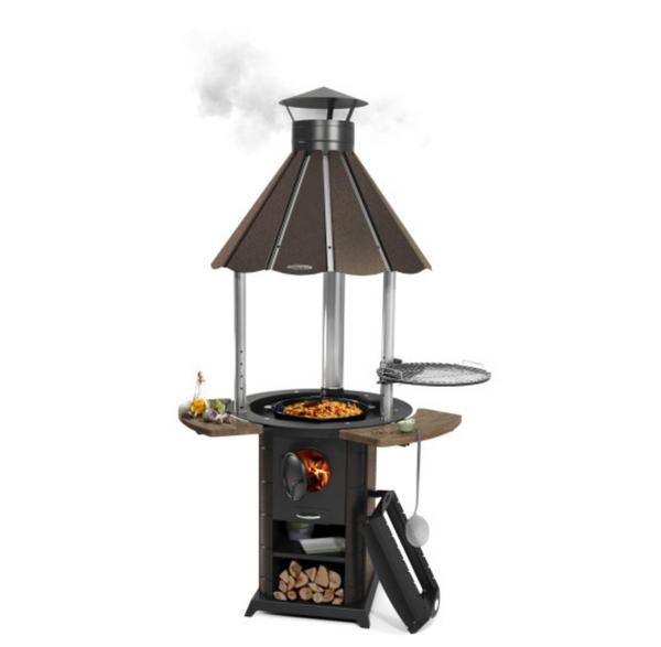 """Grill """"Bareback"""" oven under the cauldron black bronze"""