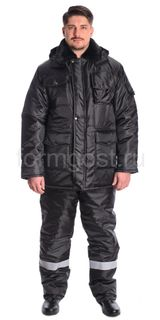 The guard outfit, Kedr insulated with bib, black