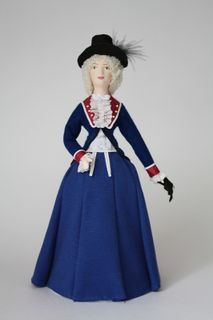 Doll gift. Suit for walking the middle of the 18th century. The era of the revolution. Paris. France.