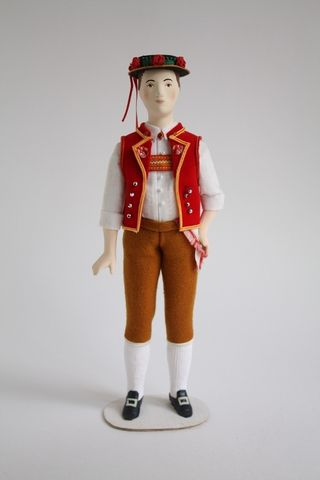 Doll gift. Male costume of a shepherd of the 20th century. G. Toggenburg. Switzerland.