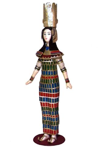 The Queen Of Egypt. National costume of the 13th century BC. Late in the period. Ancient Egypt, Nile Valley. Doll gift
