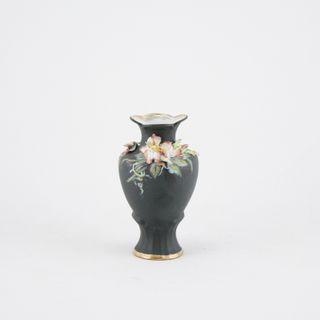 Vase. Black velvet