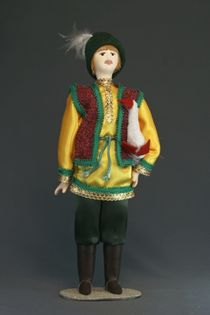 Doll gift porcelain. The guy with the goose.