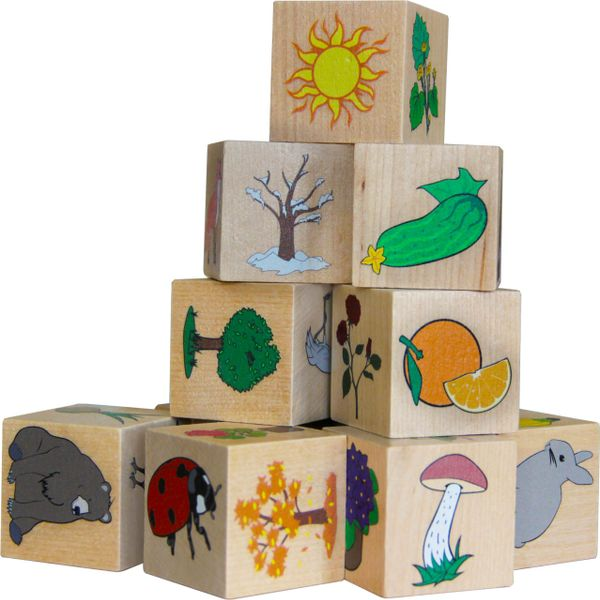 "Krasnokamsk toy / Cubes ""World around"""