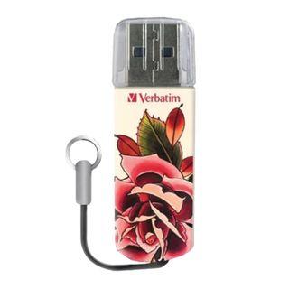 """VERBATIM / Flash drive 32 GB, Tattoo, USB 2.0, """"Rose"""""""