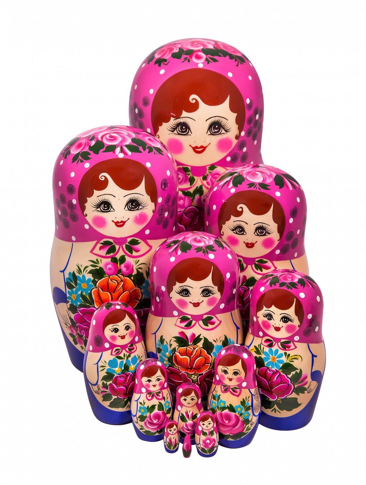 Khokhloma painting / Matryoshka unconventional 10 dolls