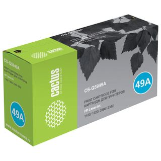 Toner cartridge CACTUS (CS-Q5949A) for HP LaserJet 1160/1320/3390, yield 2500 pages.