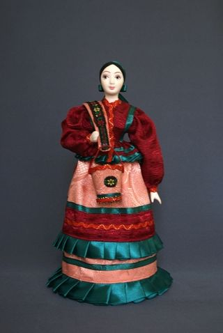 Doll gift porcelain. The water-bearer-Cossack