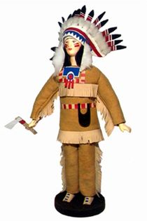 Doll gift. Indian. 19th century. North America. The national costume.