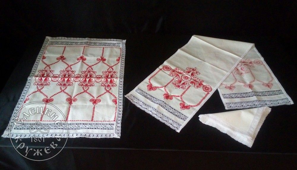 """Yelets lace / Kitchen set """"Countertop, napkins and towel"""""""
