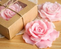 Pink rose - handmade soap art.milotto003556