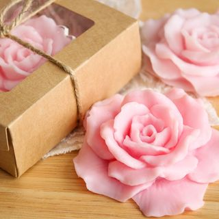 Pink rose - handmade soap art.milotto003556