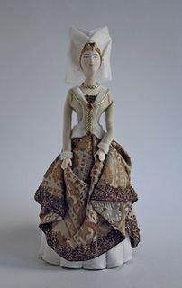 Doll gift. Women's ceremonial court dress