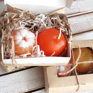 Mini Mandarin Handmade Soap Set 2 in Peel