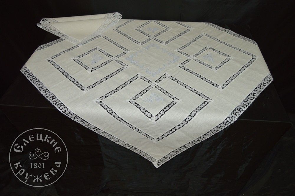 "Yelets lace / Table set ""Tablecloth and napkins"" С531"
